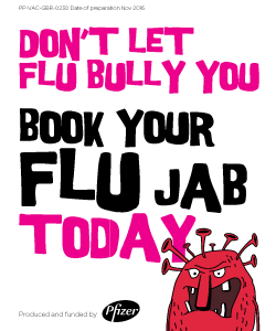 Don't let Flu bully you - book your flu jab today